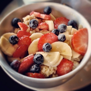 Oatmeal and Fruit from Sweet Betweens Blog